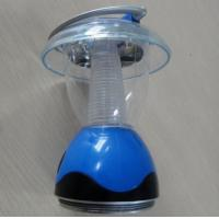 Wholesale Energy-saving Blue Round Solar Powered Gadgets 5 Led Light  Hand Lamp from china suppliers