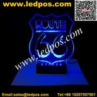 Wholesale Countertop Laser Engraving Acrylic LED Edge Lit Sign from china suppliers