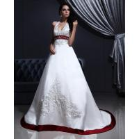 Wholesale satin v neck wedding dress satin v neck for Around the neck wedding dresses
