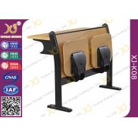 Wholesale Melamine Desktop Foldable Lecture Theatre Chairs Iron Hinge Type , ISO9001 from china suppliers