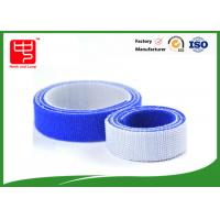 Wholesale 100% nylon blue hook and loop tape double sided hook and loop roll 25mm wide 25m / roll from china suppliers
