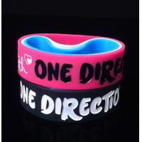 Quality One Direction Debossed and colorfilled in silicone bracelets wristband for sale