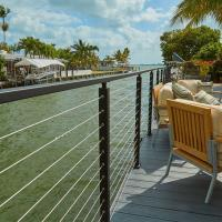 Buy cheap Outdoor steel cable black glazed railing for wooden deck use from wholesalers