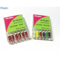 Buy cheap 21mm handuse K files dental endo files made of NITI Alloy pack with 6 pcs a box from wholesalers