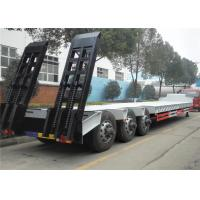 Wholesale 60 Tons - 100 Ton Lowboy Trailer , Low Bed Semi Trailer 2 Axles / 3 Axles / 4 Axles from china suppliers