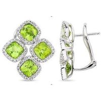 Wholesale Peridot & Diamond earring from china suppliers