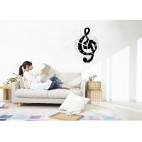Quality Antique Acrylic Wall Sticker Clock / Wall Art Stickers For Living Room for sale