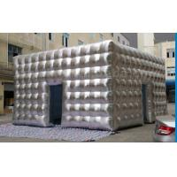 Wholesale PVC Tarpaulin Inflatable Cube Marquee With CE / UL Blower , LED Light 6x6x4 Meter from china suppliers