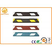 Wholesale Car Rubber Wheel Stopper with Yellow Reflective Tape Easy Installation. from china suppliers