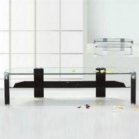 Wholesale TV Stand with Aluminum Alloy Leg, 12mm Top and 10mm Shelf from china suppliers
