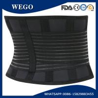 Quality WG-LS007Black Deluxe NeopreneElasticLumbar Lower Back Pain Brace Belt with Customized Silicone Logo for sale
