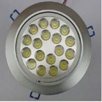 Wholesale Hight Power 18 * 1W AC85 - 265V 1700 - 1800LM LED Ceiling Light Fixtures / LED Downlight from china suppliers