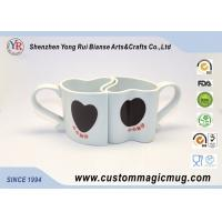 Wholesale Cute Heart Shape Porcelain Couples Coffee Mugs , Porcelain Personalized Coffee Travel Mugs from china suppliers