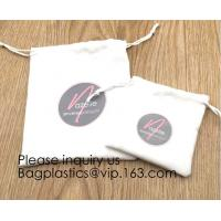 Wholesale Cream Drawstrings Velvet Bags for Jewelry, Gift, Wedding Favors, Candy Bags, Party Favors,screen printed, hot stamped from china suppliers