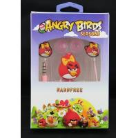 Quality Comfortable Sound Isolating Earphones L Type With Angry Birds Design for sale