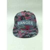 Wholesale Autumn Girls Buckle Snapback Hat Camouflage Fabric 6 Panel Customize from china suppliers