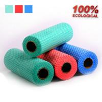 Wholesale Viscose and Polyester Spunlace Non Woven Fabric Rags Roll for Table / Glass from china suppliers