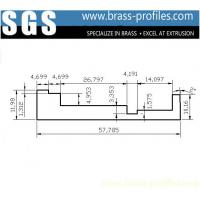 Wholesale DIY Sizes Brass L-Bar Extruding 58mm x 12mm Extruded Copper L-Sheet from china suppliers
