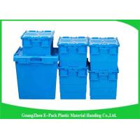 Wholesale Nestable Plastic Attached Lid Containers ,  Industrial Storage Turnover Crate from china suppliers