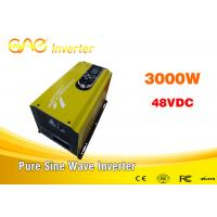 Buy cheap 3000w off grid solar inverter single phase dc to ac pure sine wave 220v ac 48v dc converter with charger from wholesalers