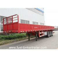 Wholesale Heavy duty 3 axle 50T flatbed side wall open cargo semi truck trailer for sale from china suppliers