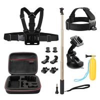 Wholesale Action Camera Kit 12-in-1 Gopro Carrying case + Head Chest Belt Strap Mount HGP5704 from china suppliers