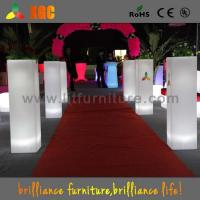 Wholesale Colorful Wedding Decoration Flower Pots Plastic Flower Pillars for Indoor / Outdoor from china suppliers