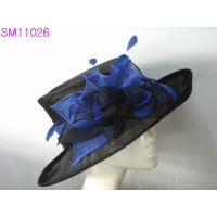 Wholesale Big Brim Sinamay Ladies Hats / ladies occasion hats Ruffle Trimming from china suppliers
