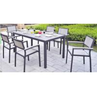 Wholesale Aluminium Metal Bar Table And Chairs / Patio Garden Furniture Sets 7 PCS from china suppliers