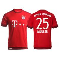 Wholesale FC Bayern München Mens Soccer Jerseys Top Thai Football Uniform Home Red Shirts from china suppliers