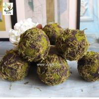 Wholesale UVG arts and crafts artificial moss ball fake garden stone for wedding event decoration GRS043 from china suppliers