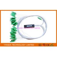 Wholesale FTTx Mini Fiber Optic PLC Splitter 1x32 SC/APC 1Mts Green SMF IEC ROHS Telcordia Standard from china suppliers