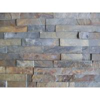 Wholesale Rusty Split Face Slate Stone Panel,Multicolor Slate Culture Stone,Real Thin Stone Veneer for Wall from china suppliers