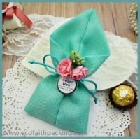 Wholesale jute candy bag jute chocolate package bag wedding favor from china suppliers