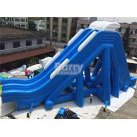 Wholesale Blue Double Lanes Giant Inflatable Slide For Water Pool Fire Retardant from china suppliers