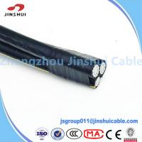 Wholesale 0.6 / 1KV Aluminum Conductor Service Drop Cable Duplex Wire Icea S 61 402 from china suppliers
