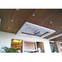 Wholesale Suspended Wood Plastic Composite Ceiling Panels for Office, Hotel from china suppliers