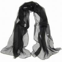 Wholesale Polyester Chiffon Scarf, Suitable for All Seasons, Different Colors are Available from china suppliers