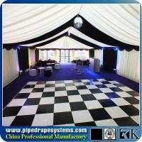 Wholesale Anti-slip white and black wooden dance floor on glass for sale in China from china suppliers