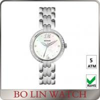 Wholesale Elegant Hands Ladies Silver Diamond Watch 5atm AAA Zircons On Strap from china suppliers