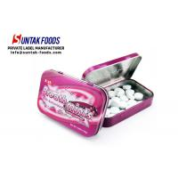 Wholesale Black Currant Flavor Meta Tin Box Candy Round Shaped Eco-Friendly from china suppliers