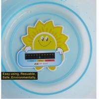 Handheld Card Water Thermometer For Baby Bath , Lovely Sunflower Style