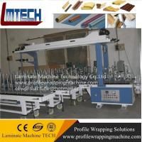 Buy cheap pvc flooring molding wrapping machine from wholesalers