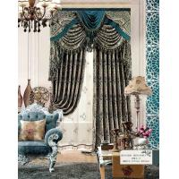 Wholesale Multi Color Floral Jacquard Sheer Lace Curtains Ready Made Window Curtain for Living Room from china suppliers