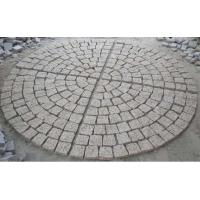 Wholesale Fan Pattern Nature Granite Stone Paver for Garden&Park Decoration from china suppliers