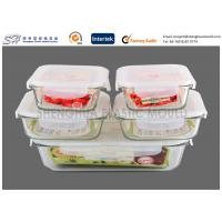 Wholesale Kitchenware Large Or Small Airtight Borosilicate Glass Food Containers With Lids for storage from china suppliers