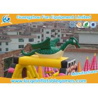 Quality Extreme Large Inflatable Games , Dinosaur Inflatable Fun Land With Full Digital Printing for sale