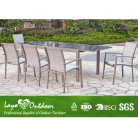 Wholesale 8 Seater Extending Dining Table And Chairs , Rectangle Dining Table Cast Aluminum Patio Furniture from china suppliers