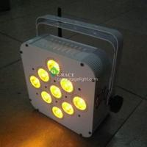 Buy cheap 9pcs 10/15watt rgbwa 5in1 led battery wireless dmx par can from wholesalers