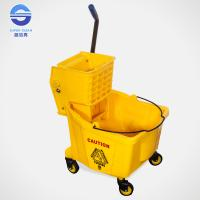 Wholesale 32L Industrial Single Mop Wringer Trolley 54*38*90cm , Yellow / Red / Green / Blue from china suppliers
